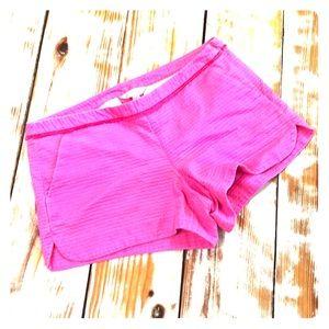 Lilly Pulitzer Hot Pink Fringe Waist Shorts Size 4